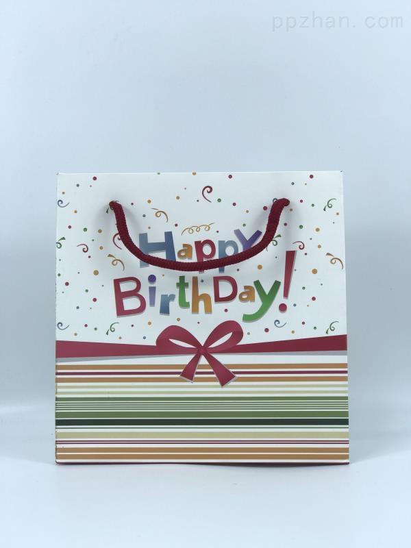 生日礼物袋包装袋 简约创意手提纸袋